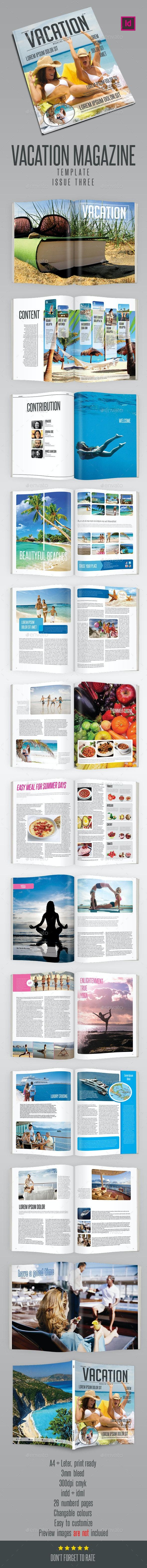 Vacation Magazine Template - Magazines Print Templates