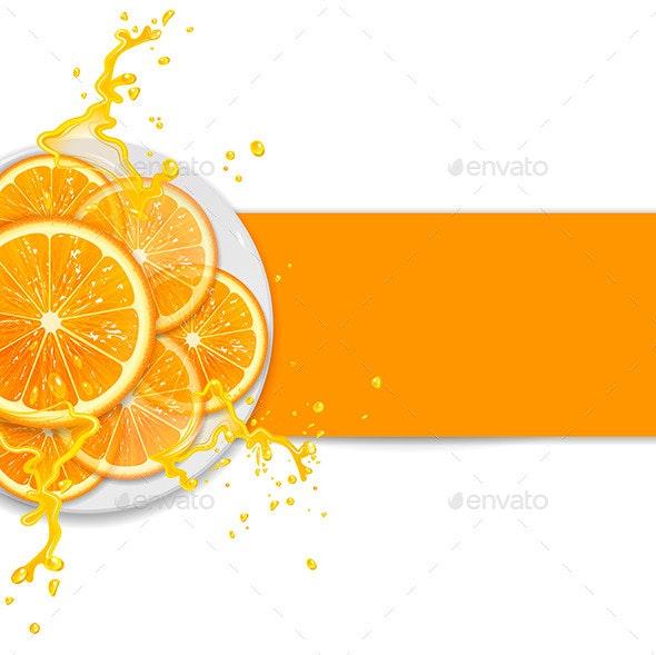 Background with Oranges - Decorative Vectors
