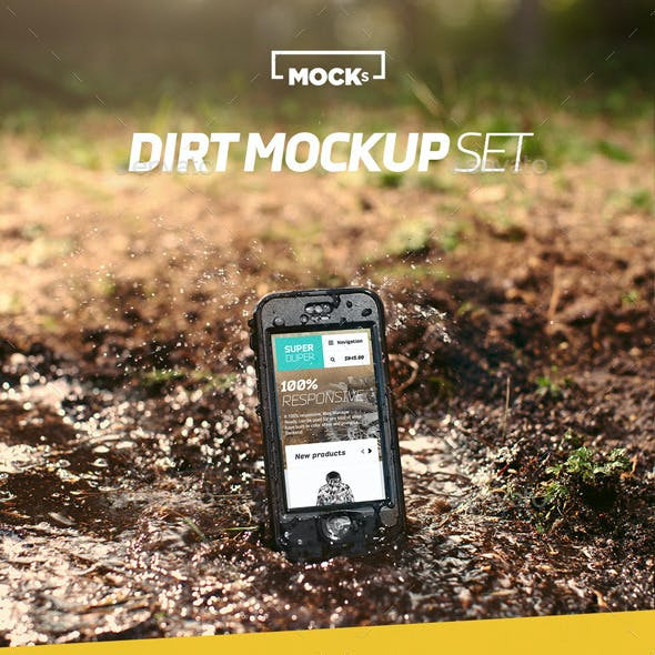 Phone Dirt Mockup Set