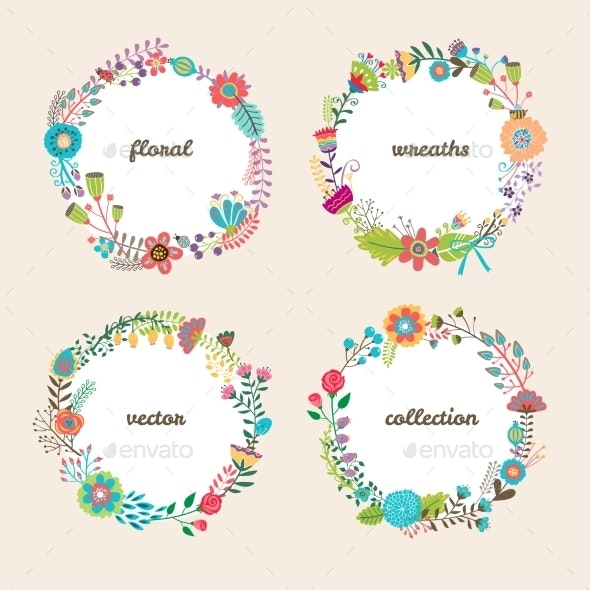 Floral Wreaths - Flowers & Plants Nature