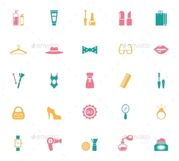 Collection of Fashion and Shopping Icons - Retail Commercial / Shopping