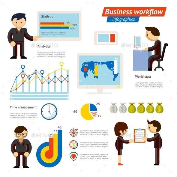 Business Infographic Workflow Illustration - Concepts Business