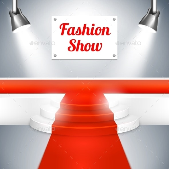 Fashion Show Catwalk with a Red Carpet - Backgrounds Decorative