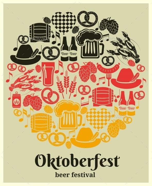Oktoberfest Beer Festival Label - Miscellaneous Vectors