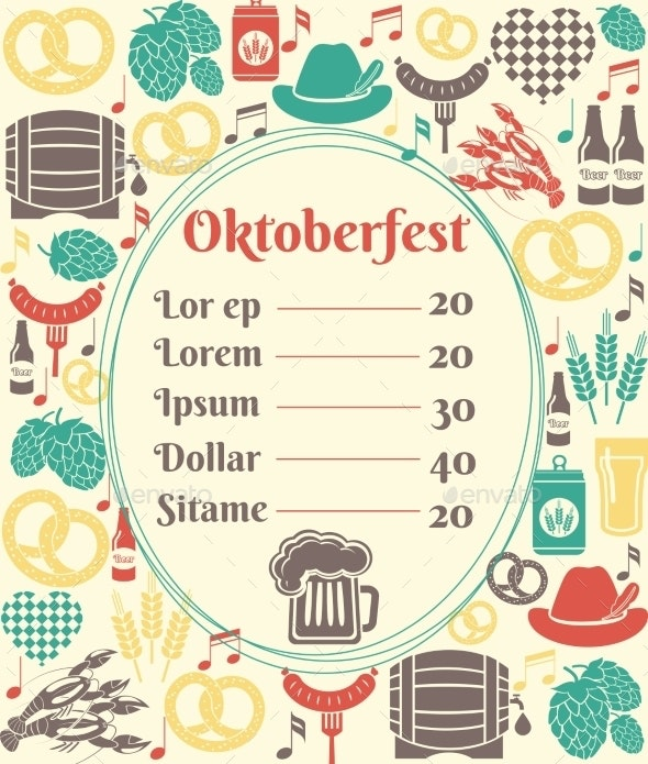 Oktoberfest Menu Template - Food Objects