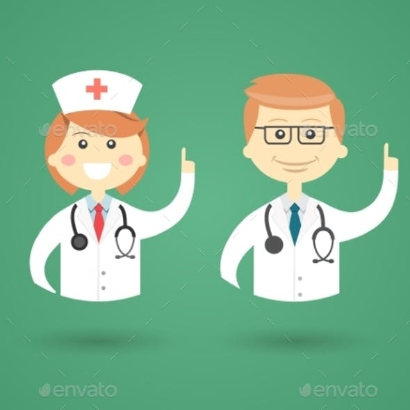 Professions - Doctor and Nurse