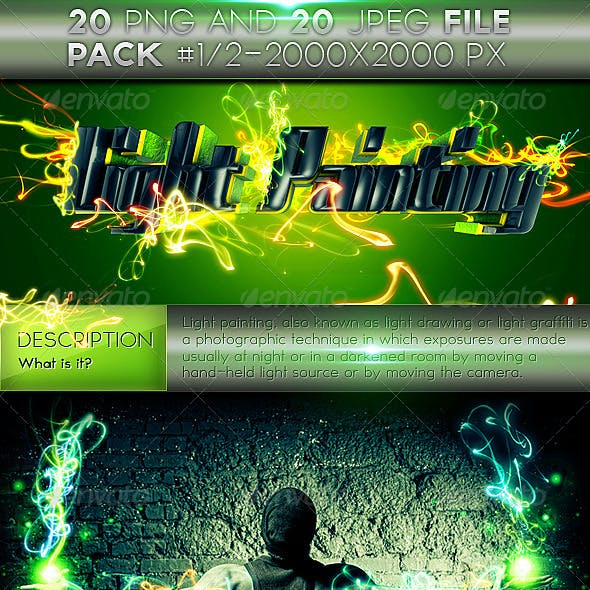 Light Painting Effects Pack 1 of 2