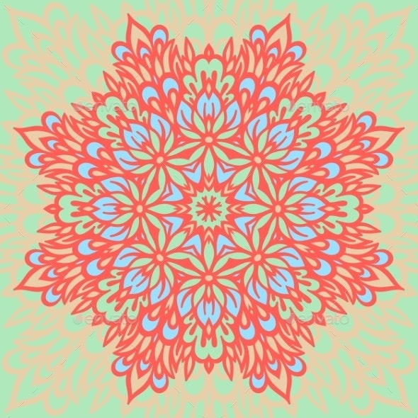 Flower Mandala. Abstract Background. - Decorative Symbols Decorative