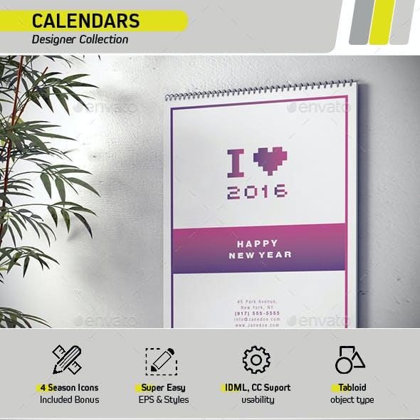 Calendar 2015 for Designers