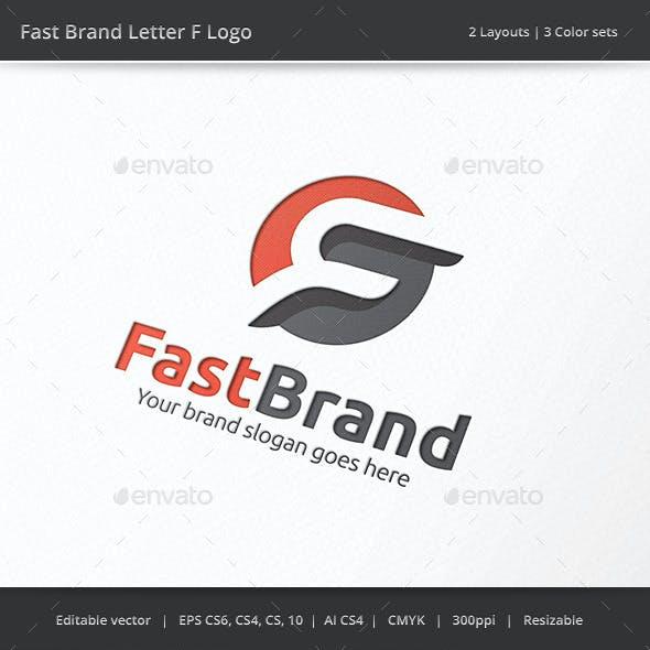 Fast Brand Letter F Logo