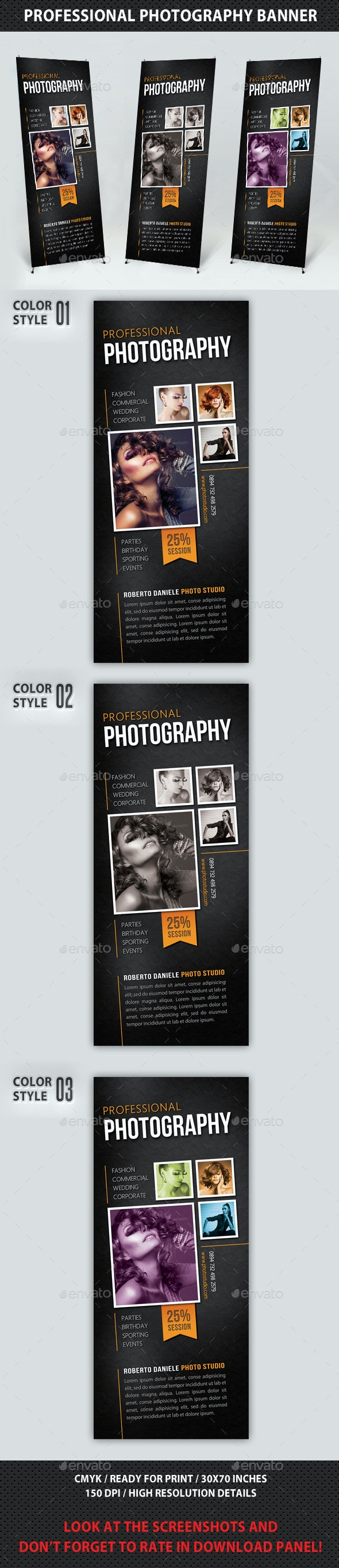 Photography Studio Multipurpose Banner 13 - Signage Print Templates