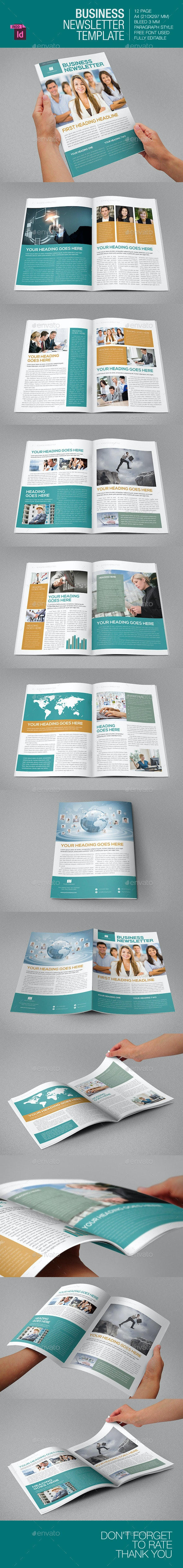 Business Newsletter Template - Newsletters Print Templates