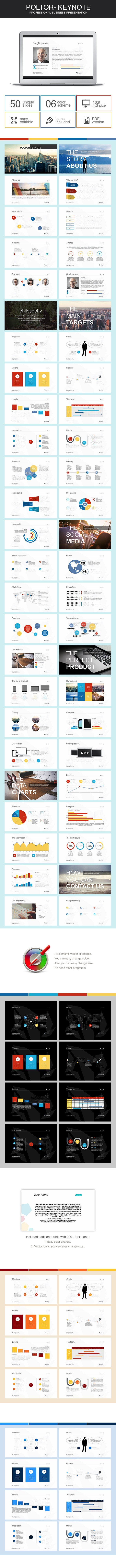 Poltor - Keynote presentation - Business Keynote Templates