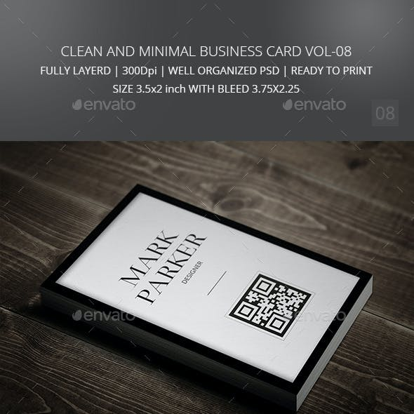 Clean and Minimal Business Card Vol-08