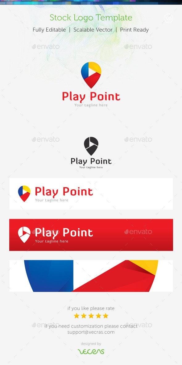 Play Point Stock Logo Template  - Symbols Logo Templates