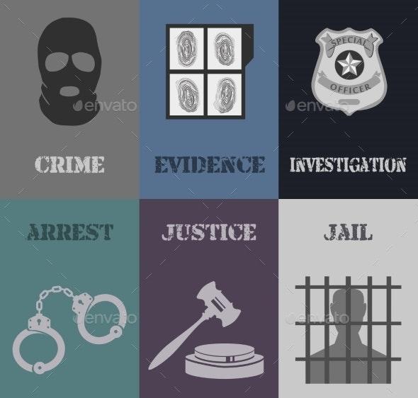 Police Mini Posters - Web Elements Vectors