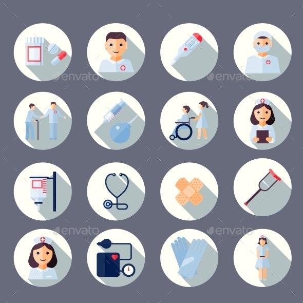Nurse Icon Set - Health/Medicine Conceptual