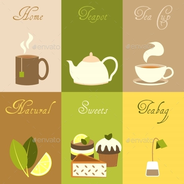Tea Mini Posters Set - Food Objects