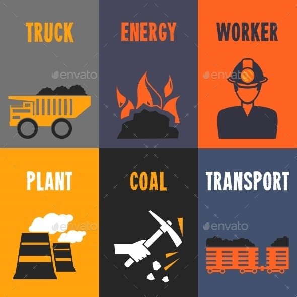 Coal Industry Mini Posters - Backgrounds Business