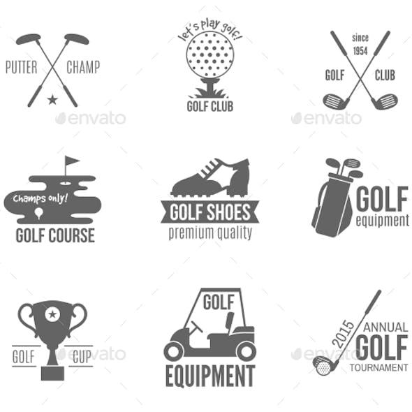 Golf Label Set