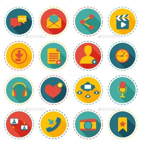 Social Network Icons - Web Technology