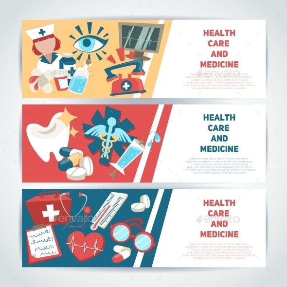 Medical Horizontal Banners - Backgrounds Business