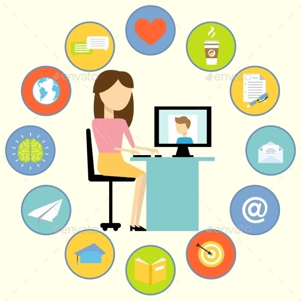 Business Communication Concept - Web Technology