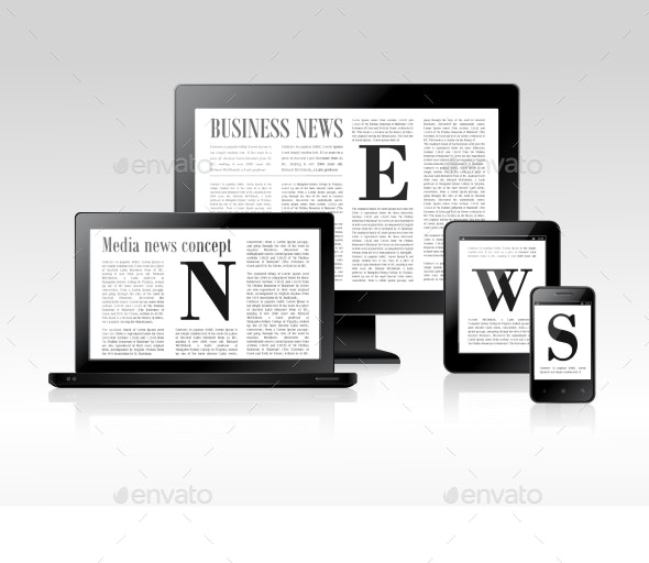 Media News Concept - Computers Technology