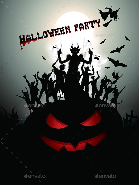 Halloween Party Background - Halloween Seasons/Holidays