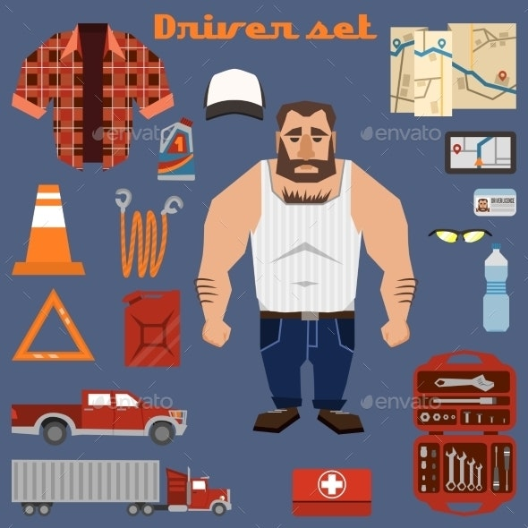Driver Character Elements - People Characters