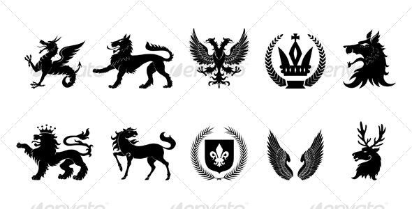 Heraldic design elements - Decorative Symbols Decorative