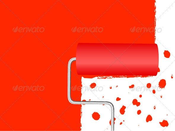 Paint Roller Background - Backgrounds Decorative