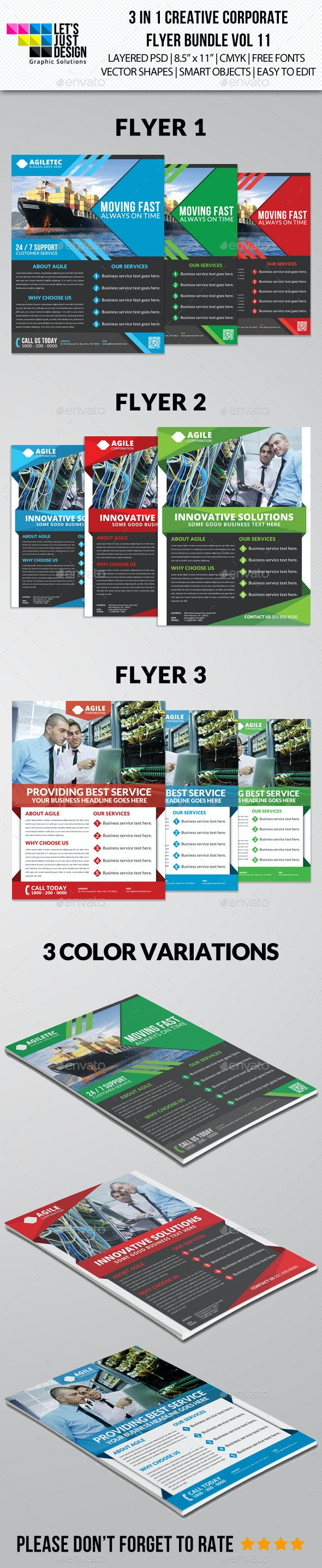 Creative Corporate Flyer Pack Vol 11 - Corporate Flyers