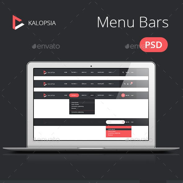 Kalopsia Flat Menu Bars