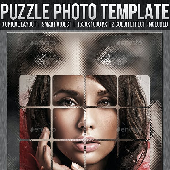 Artistic & Puzzle Photo Template Bundle