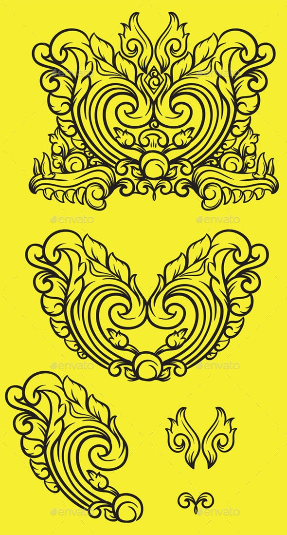 Heart Ornament - Decorative Symbols Decorative