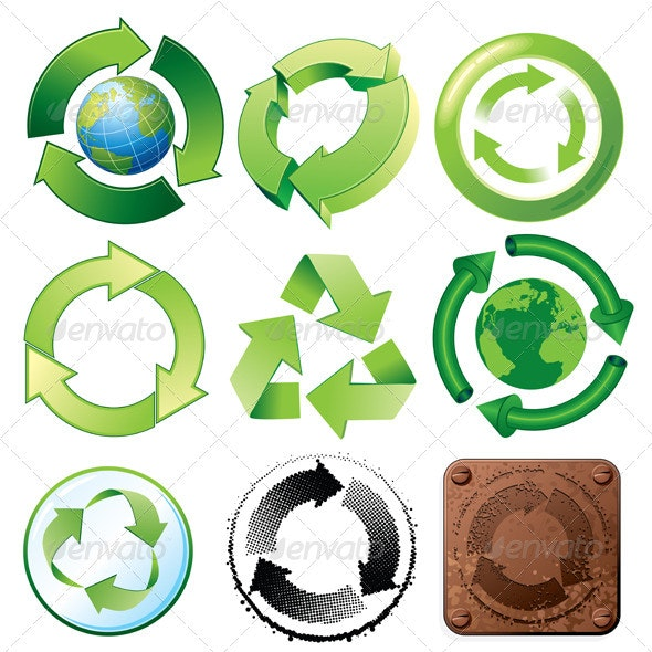 Recycle Symbols Collection  - Characters Vectors