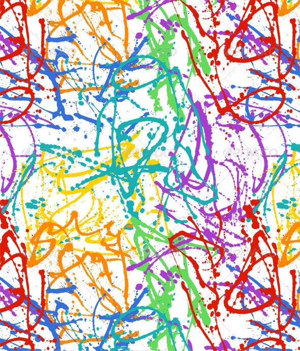 Slash and Drip Paint Pattern  - Backgrounds Decorative