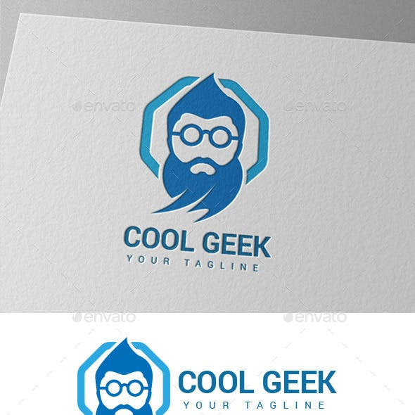 Old Genius Geek Logo