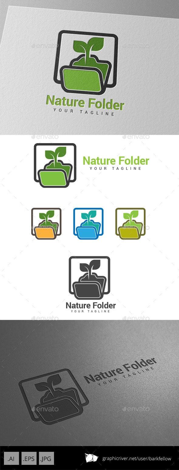 Nature Folder Logo - Nature Logo Templates
