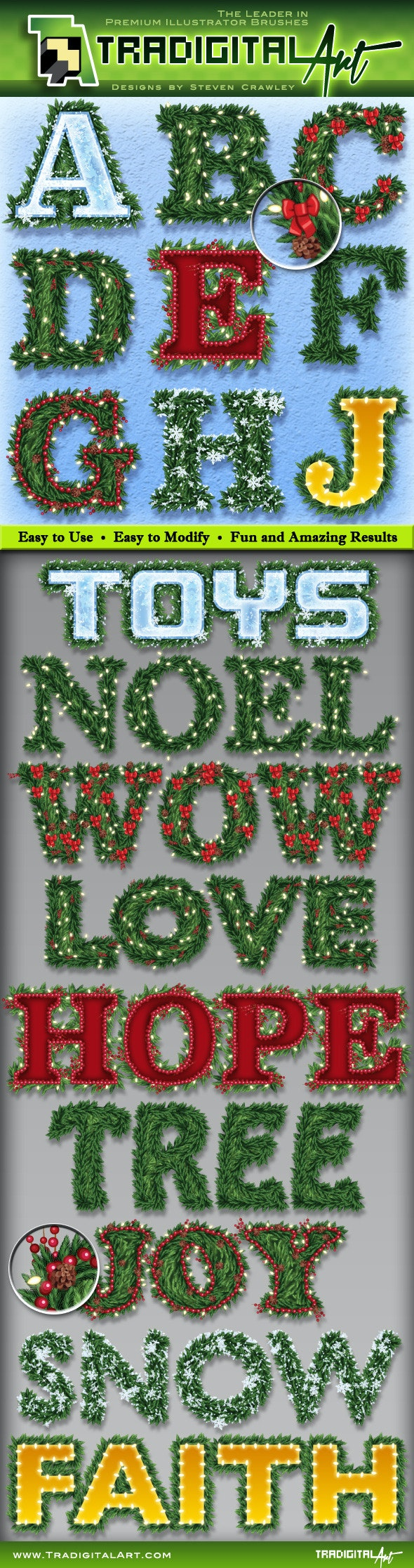 Holiday Garland Graphic Styles - Styles Illustrator