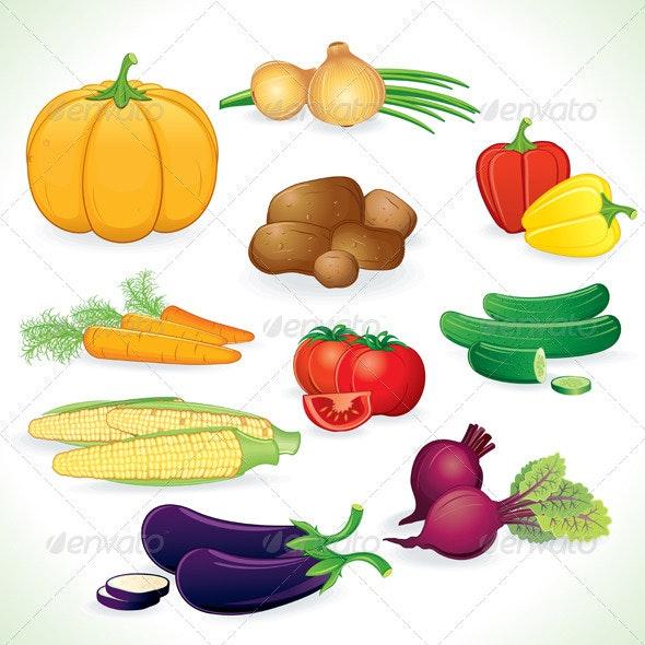 Vector Clip Art of Vegetables - Characters Vectors