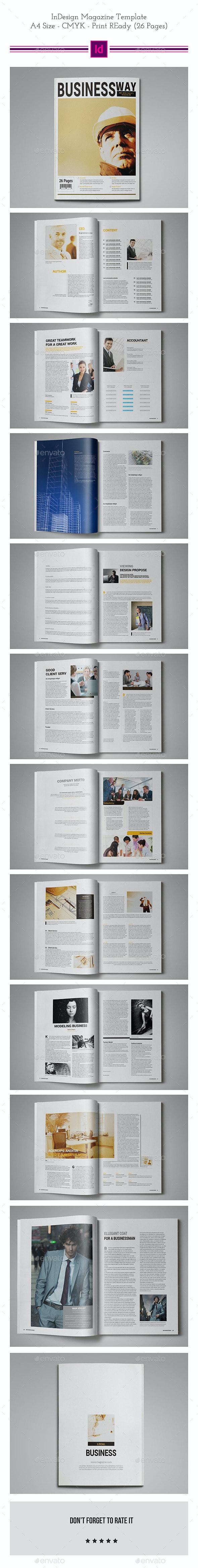 Business Magazine Template - Magazines Print Templates