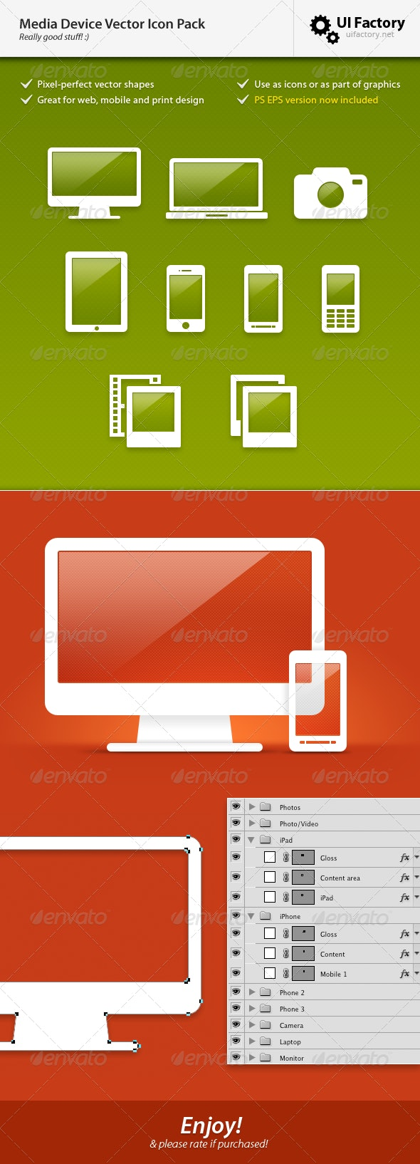 Hardware / Technology Vector Icon Pack - Objects Vectors