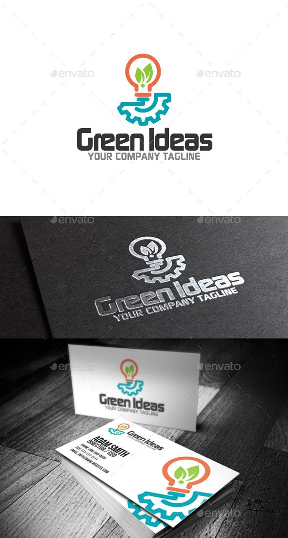 Green Ideas Logo - Abstract Logo Templates