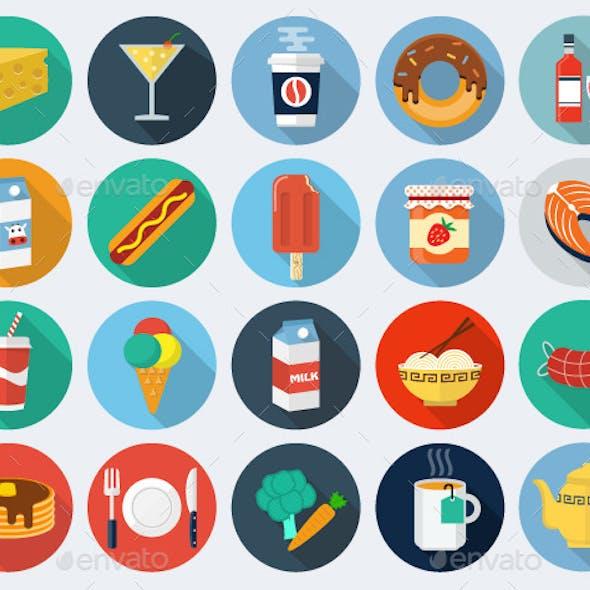 Food Flat Icons, Set 2