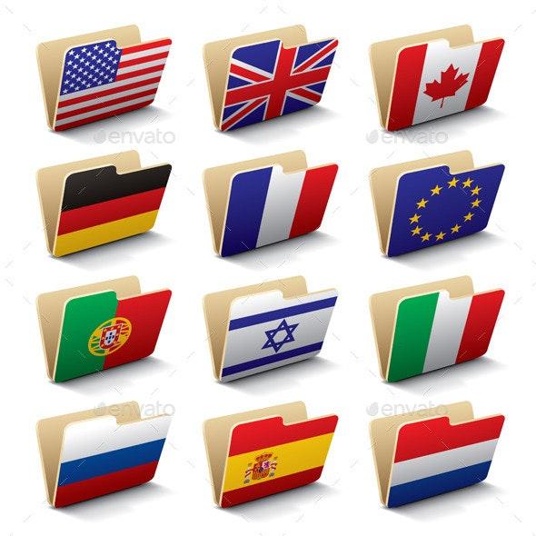 World Folders  - Objects Vectors