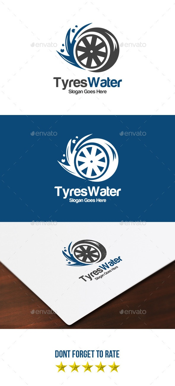 Tyres & Water Logo - Objects Logo Templates