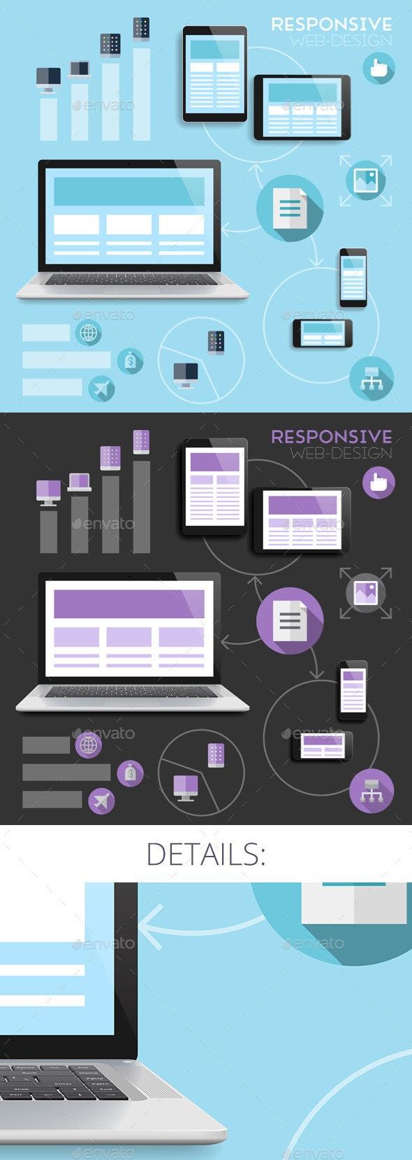 Responsive Web-Design Concept - Web Technology