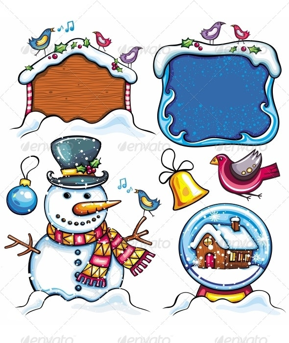 Christmas Cartoon Set - Christmas Seasons/Holidays